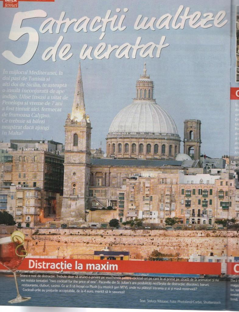 5 atractii malteze de neratat - Libertatea pentru femei