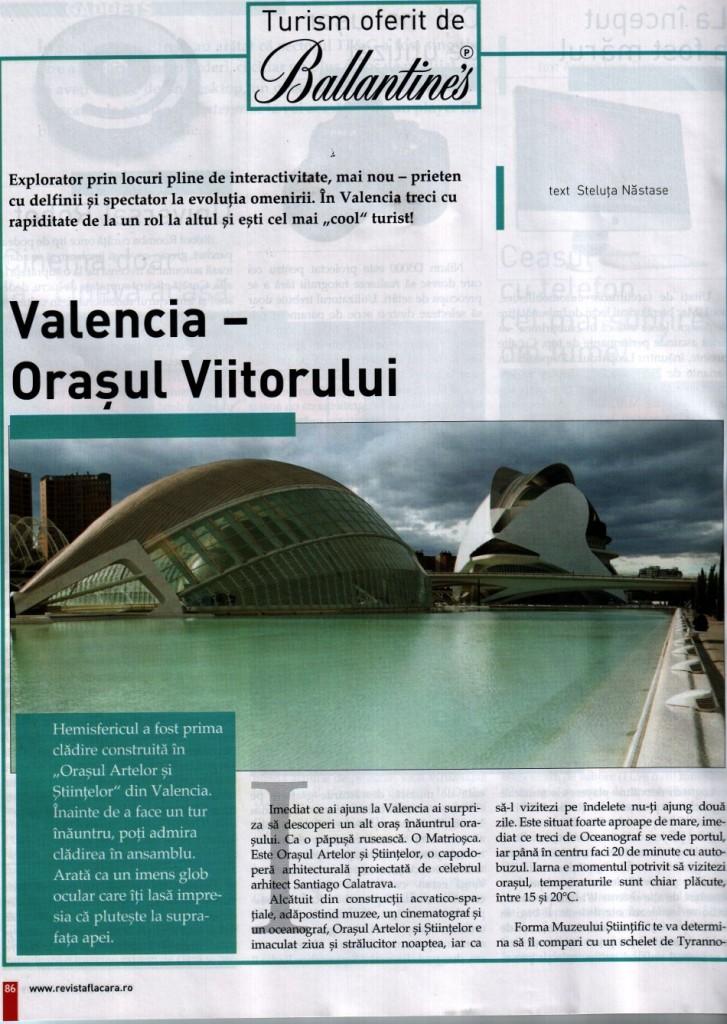 Valencia - Orasul Viitorului, revista Flacara, decembrie 2009